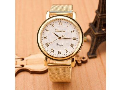 Zlaté páskové hodinky Geneva římské