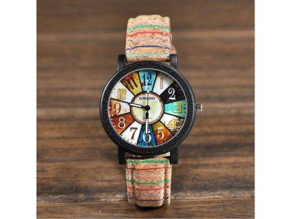 Wood hodinky korek