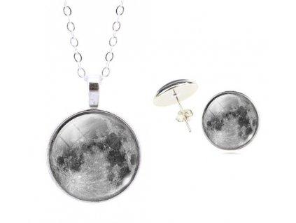 Sada Měsíční krása náušnice a řetízek s přívěškem