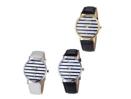 Unisex kožené hodinky Geneva Námořník času