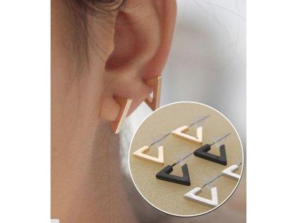 Náušnice 3D motiv Triangl 1