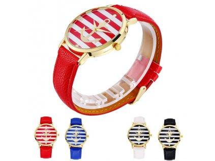 Kožené volnočasové hodinky Námořník