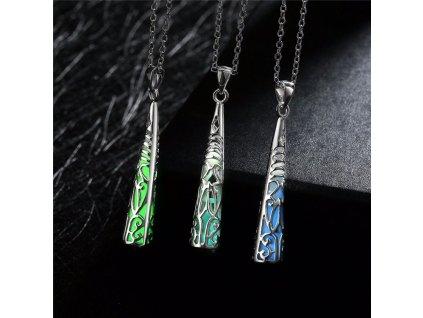 náhrdelník Svítící kužel řetízek s přívěškem