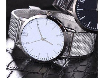 Dámské stříbrné páskové hodinky římské