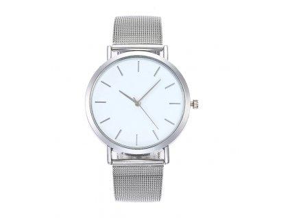 Stříbrné páskové hodinky dámské