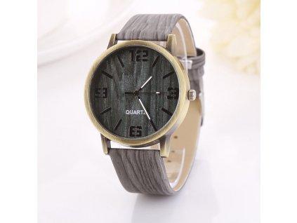 Unisex hodinky imitace dřeva