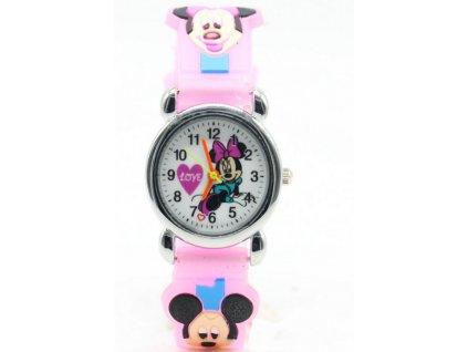 Dětské růžové hodinky Minnie