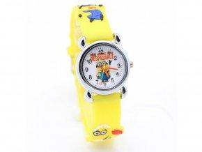 Dětské žluté hodinky Mimoni