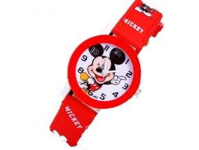 Dětské hodinky Veselý Mickey mouse červené