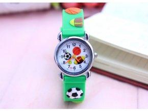 Dětské Fotbalové hodinky zelené