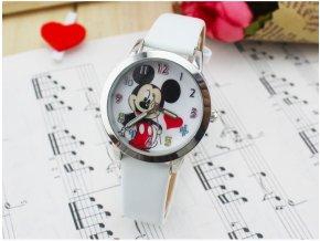 Dětské hodinky Zamilovaný Mickey mouse bílé