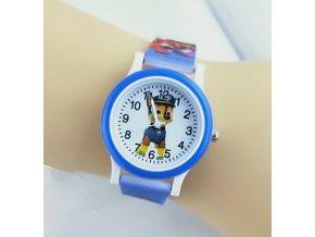 Dětské modré hodinky Tlapková patrola