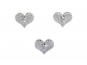 Dámské šperky na tělo Srdíčka crystal