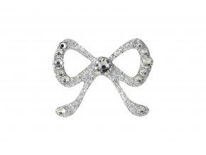 Dámské šperky na tělo stříbrná Mašlička crystal