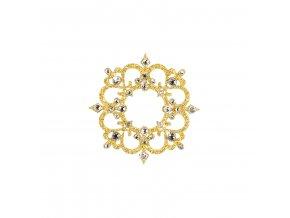 Dámské šperky na tělo zlatý Rome crystal