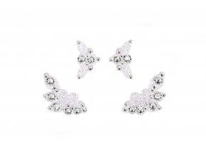 Dámské šperky na tělo stříbrné Capri crystal