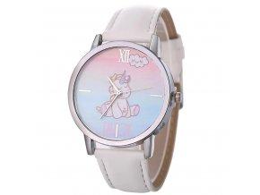 Dětské bílé hodinky Malý jednorožec
