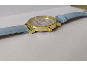 Dětské modré hodinky Šťastný jednorožec
