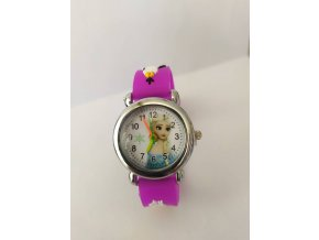 Dětské  fialové hodinky Elsa Ledové království