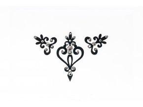 Dámské šperky na tělo černá Verona