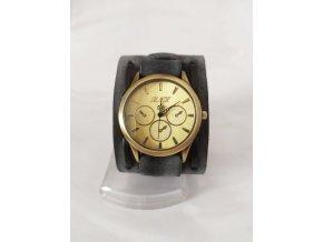 Kožené analogové hodinky unisex