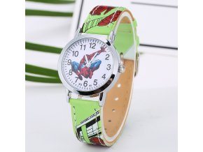 Dětské hodinky Spiderman zelené