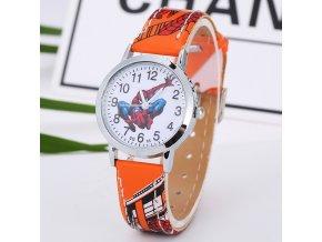 Dětské hodinky Spiderman oranžové