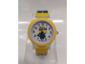 Dětské žluté hodinky Šťastný mimoň