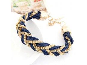 Náramek Smotaná lana tmavě modrý