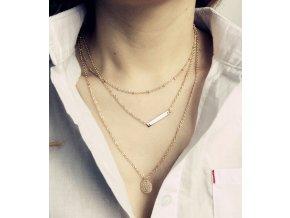 3 vrstvý náhrdelník klasický