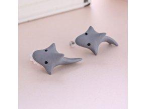 Náušnice 3D Žralok