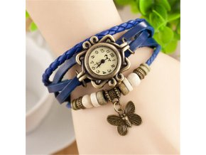 Vintage hodinky Motýlek modrá