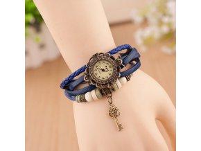 Vintage hodinky Klíček modrá