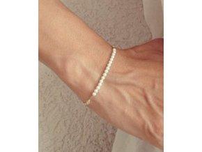 Náramek Jednoduché perličky perly