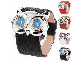 Kožené hodinky Sova