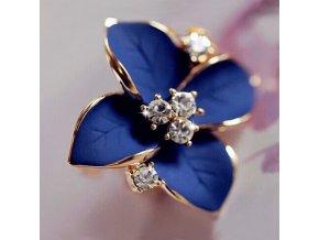 Náušnice Modrý květ