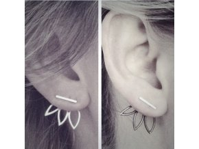 Náušnice Lotos na uchu