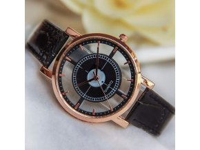 Průhledné hodinky kožené