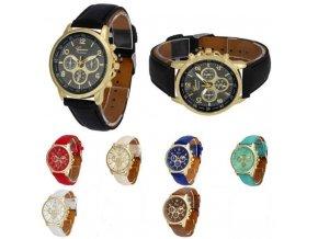 Kožené hodinky Geneva Platinum chrono