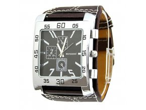 Hranaté hodinky prošívané unisex- 2 barvy