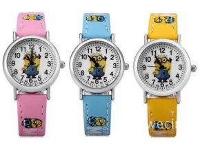 Dětské hodinky Mimoni růžové žluté modré