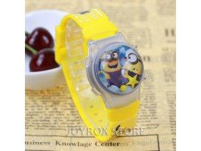 Dětské 3D digitální hodinky Mimoni žluté