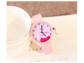 Dětské růžové hodinky Prasátko Pepina