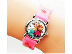 Dětské růžové hodinky Frozen