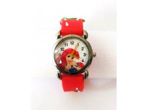 Dětské červené hodinky Mořská víla Ariel