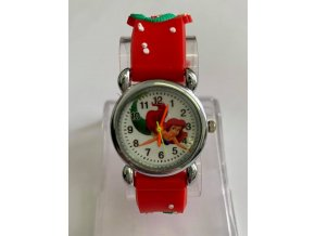 Dětské červené hodinky Víla Ariel