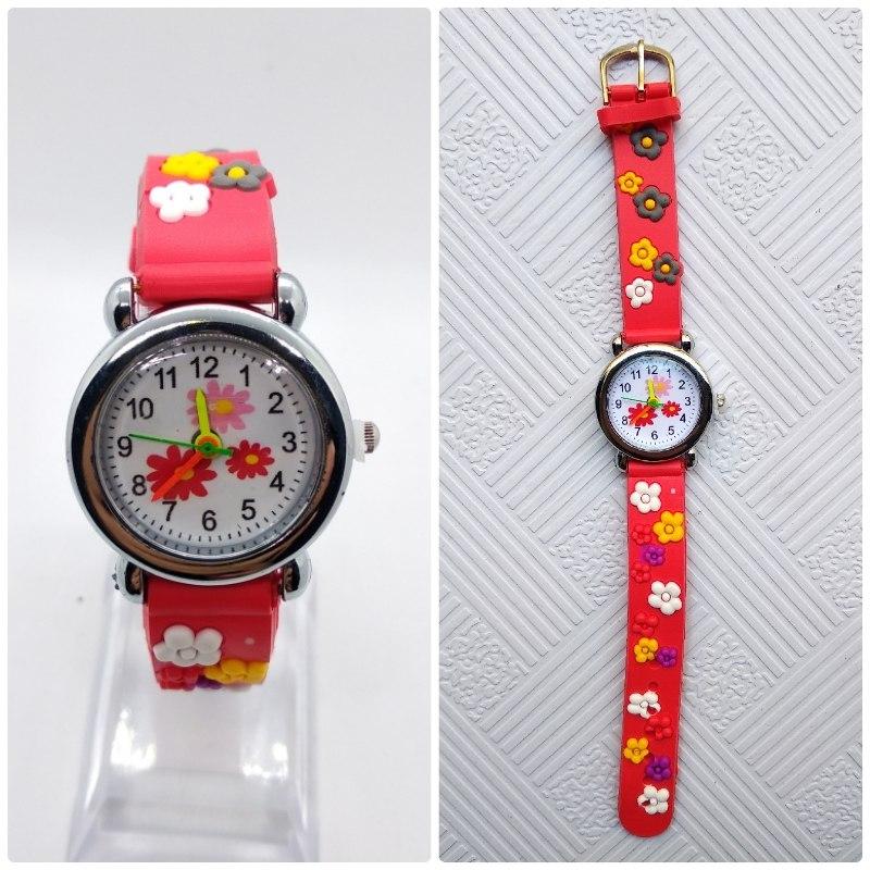 Dětské květinové hodinky - 2 barvy Barva: Červené