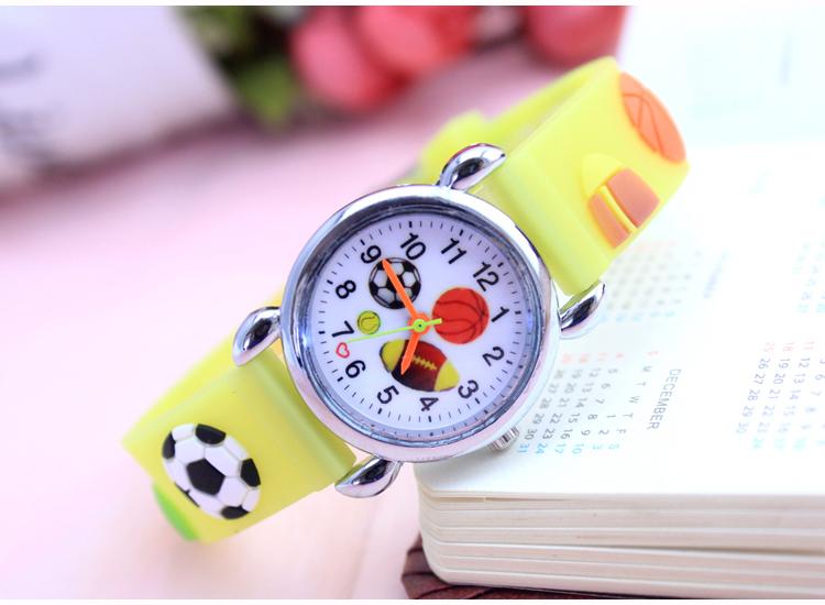 Dětské Fotbalové hodinky - 2 barvy Barva: Žlutý