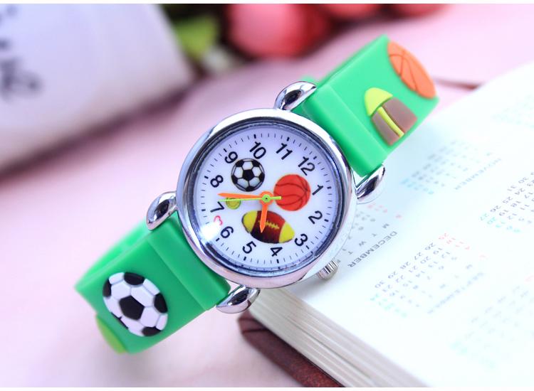 Dětské Fotbalové hodinky - 2 barvy Barva: Zelený