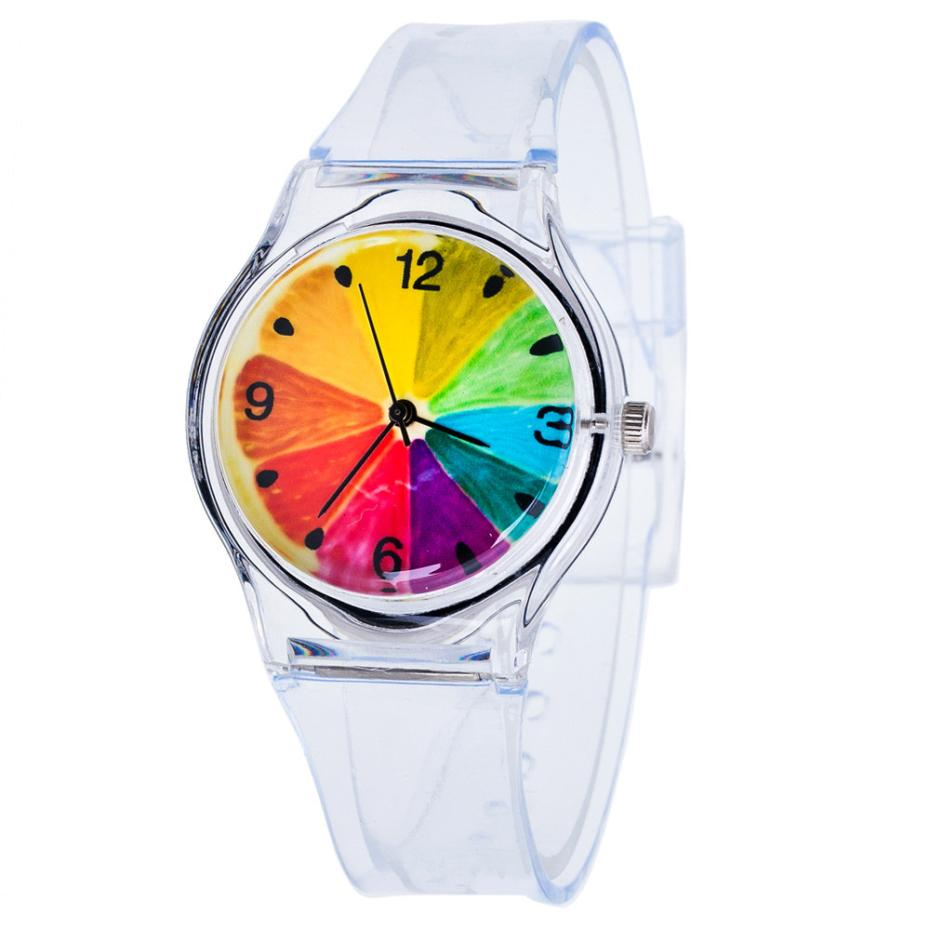Dětské Barevné hodinky - 2 barvy Barva: Barevný